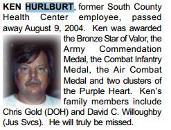 Documents: Death notice, Kenneth C Hurlburt : Hucke org